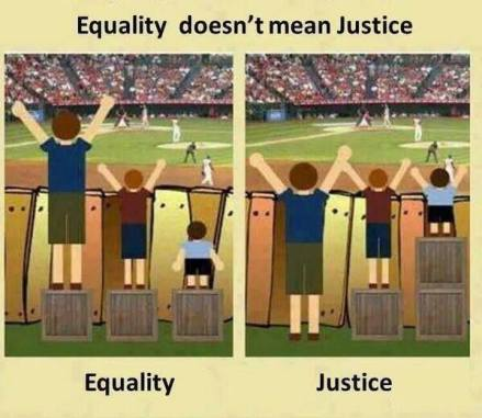 Equality vs Justice